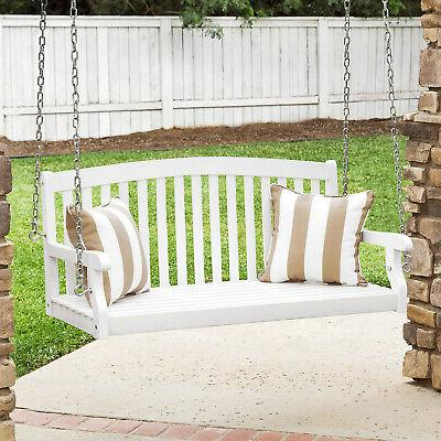 Weather-Resistant Porch Swing W/Hanging