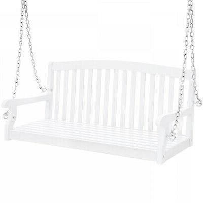 weather resistant acacia wood porch swing w