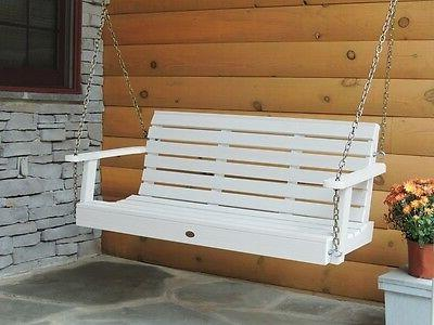 Highwood Weatherly Porch Swing 5 feet, White