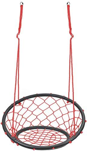 Sorbus Rope Net Style Hammock Chair, 264 Pound Capacity, Perfect for Kids & Adult Patio, Deck, Yard, Garden