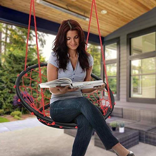 Sorbus Swing, Rope Net Style Perfect for & Adult Lounging Patio, Deck,
