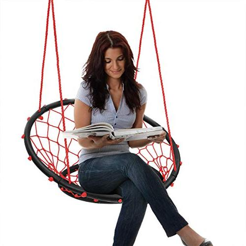 Sorbus Rope Chair, 264 Capacity, Perfect for Kids Adult Indoor/Outdoor Home, Patio, Yard,