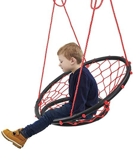 Rope Net Chair, Capacity, Perfect for Kids Adult Patio, Deck, Yard,