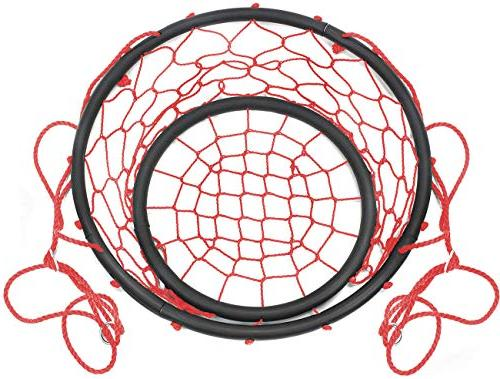 Sorbus Web Chair Rope Net Hammock Chair, Adult Lounging Indoor/Outdoor Home, Patio, Yard,