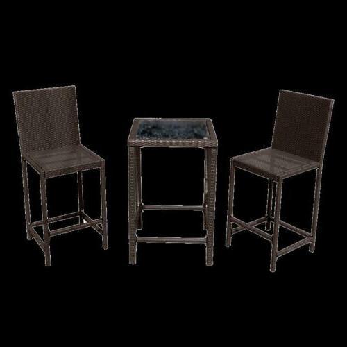 wicker bar dining set