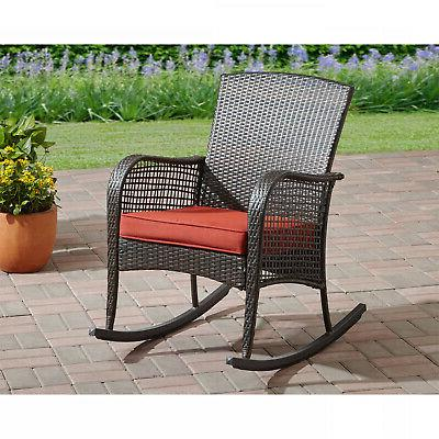 Wicker Outdoor Porch Rocker Deck
