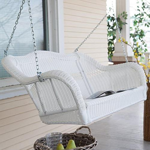 wicker porch swing resin patio