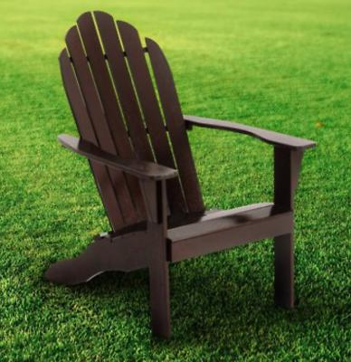 Wood Adirondack Chair Patio Chaise Reclined Bench