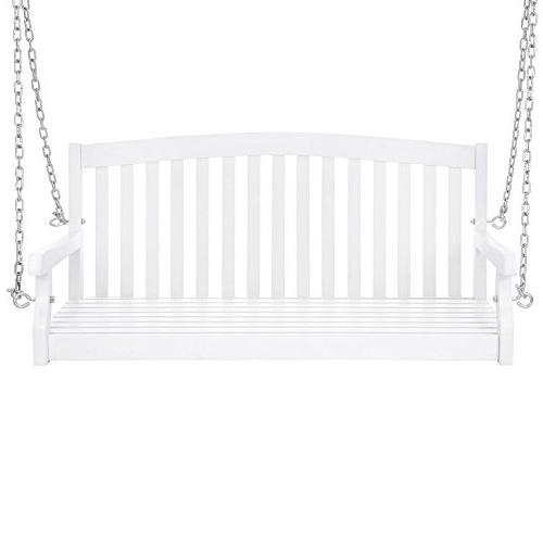 Best Wooden Curved Back Porch Chains Garden - White