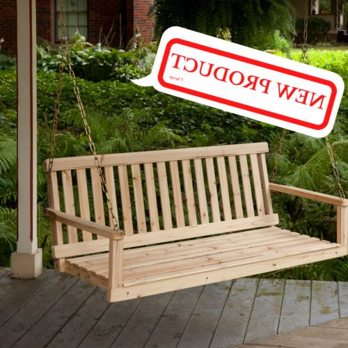 Wooden 4ft Natural Yard Bench New