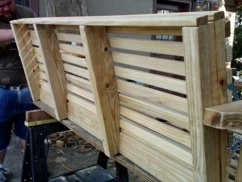 WOODEN PORCH SWING FEET WIDE WOOD MADE