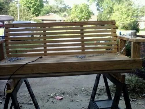 wooden porch swing 6 feet wide unfinished