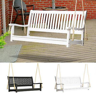 wooden swing bench porch swing w supportive