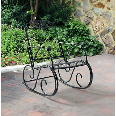 Wrought Iron Porch New Rocking Chair Patio Outdoor Deck Gard