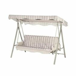 Garden Winds LCM621GY-RS Garden Treasures 3 Person Swing Rip