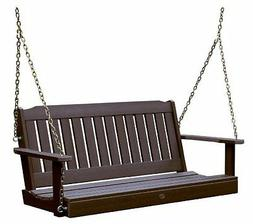 Highwood Lehigh Porch Swing 4 feet, Weathered Acorn