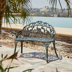 Love Seat Cast Iron Antique Designed Outdoor Patio Porch Hom