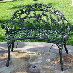 Love Seat Cast Iron Antique Designed Outdoor Patio Porch Hom