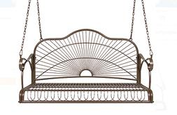 Loveseat Iron Patio Hanging Porch Swing Outdoor Living 2 Per
