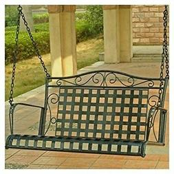 International Caravan Mandalay Iron Patio Porch Swing in Ant