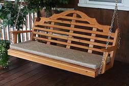 Marlboro 4 Foot Cedar Porch SWING *Unfinished Cedar* 4 Ft Sw