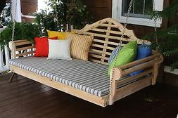 marlboro 5 foot cedar porch swing bed