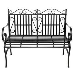 Metal Park Bench Outdoor Patio Garden Furniture Deck Backyar