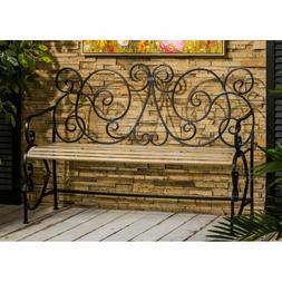 Metal Park Garden Vintage Bench Antique Patio Porch Seating