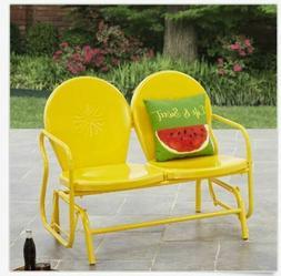 Metal Porch Glider Retro Lawn Chair Yard Patio Garden Lovese