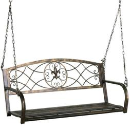 Metal Porch Swing Outdoor Patio Hanging Furniture 2 Person I