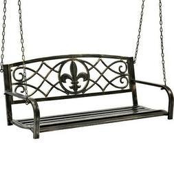 Metal Porch Swing Patio Outdoor Garden Bench Chair Furniture