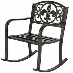 Best Choice Products Metal Rocking Chair Seat for Patio, Por