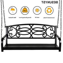 BESUNYST Modern Hanging Patio Swing Bench for Home Garden Ou
