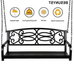 BESUNYST Modern Hanging Patio Swing Bench for Home Garden Ou