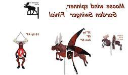 Moose  Wind Spinners, Finial or Garden Swinger by Premier De