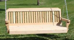 NEW 4 FT CEDAR WOOD TRADITIONAL PORCH SWING TREE WITH HEAVY