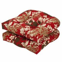 NEW Pillow Perfect Indoor/Outdoor Floral Wicker Seat Cushion
