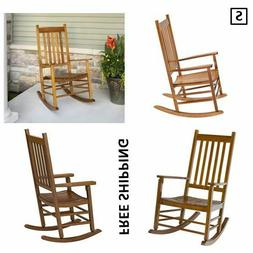 New, Knollwood Mission Rocker in Natural Finish, Outdoor, Ma