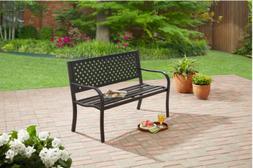 Outdoor 3 Seater Garden Steel Bench Lattice Patio Furniture