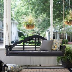 Outdoor 5 ft Porch Swing with Cushion -Black-