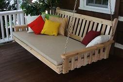 Outdoor 6' Traditional English Porch Swing Bed *Unfinished P