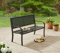 outdoor bench patio metal garden furniture deck