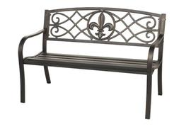 Outdoor Bench Patio Metal Garden Furniture Deck Porch Seat B