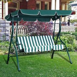 Outdoor Canopy Swing Chair 3 Person Patio Backyard Awning Ya