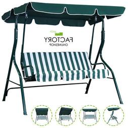 Outdoor Canopy Swing Patio Chair Lounge 3-Person Seats Hammo