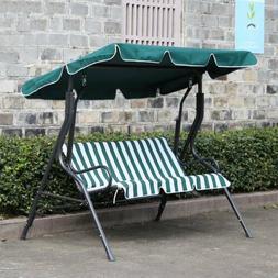 Outdoor 3 seat Canopy Swing Chair Patio Backyard Seat Beach