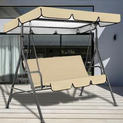 Outdoor Canopy Swing Patio Chair Lounge 3-person Seat Cover