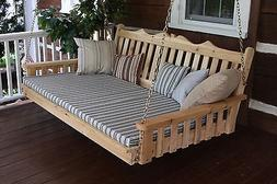 Outdoor CEDAR 4 Ft Royal English Garden Porch SWING BED *UNF