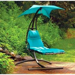 Outdoor Curved  Hanging Chaise Lounge Chair Swing Cushion Ca