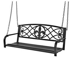 Best Choice Products Outdoor Furniture Metal Fleur-De-Lis Ha